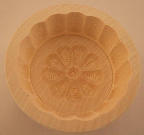 Butterform, rund, 60 Gramm, Ahorn, Rosette