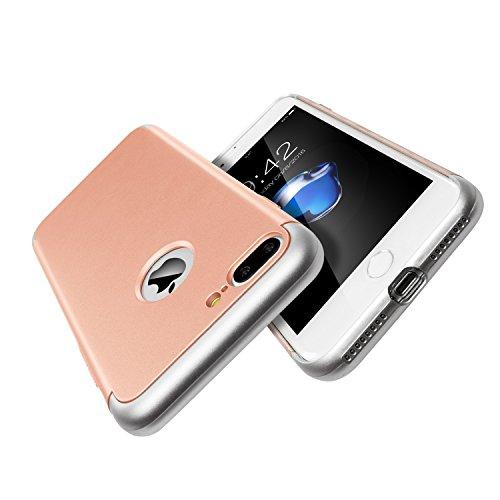 Apple iPhone 7plus Schutzhülle(4,7 Inch) 3 in 1 Stoß- ultradünne harte Schutzhülle für Apple iPhone 7 plus Stoßstange hintergrund beschützen(golden) Rose Gold