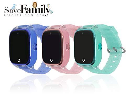 Reloj con GPS para niños Save Family Modelo Superior Acuático con Cámara. Smartwatch con botón SOS...