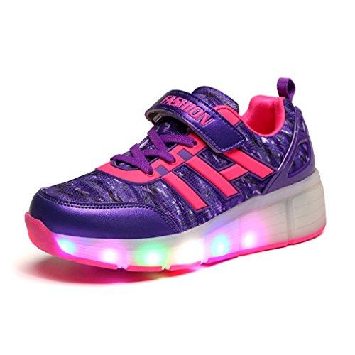 BOOWJESSEA ,  Unisex Erwachsene Sneaker Low-Tops Rot