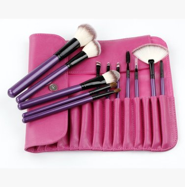 Natthom persische Mauca weiß Make-up Pinsel Champagner Farbe Pinsel Griff Make-up Pinsel-Set (A)
