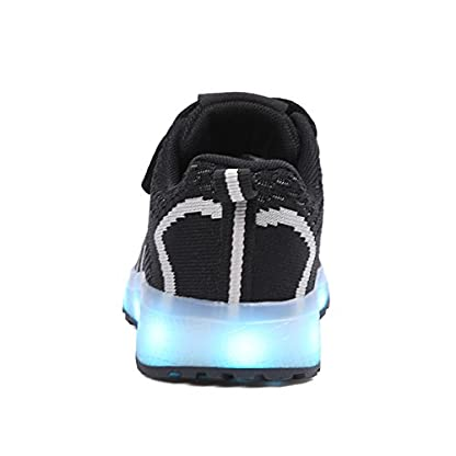 Axcer LED Light Up Trainers 7 Colors Flashing USB Charge Mesh Breathable Sport Running Shoes Gymnastic Tennis Sneakers Best Gift for Boys and Girls Birthday 5