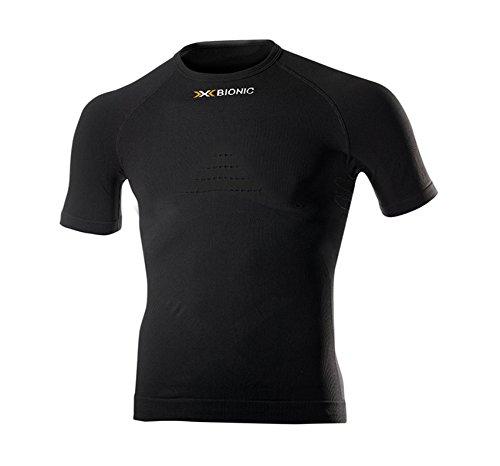 X-Bionic Erwachsene Funktionsbekleidung Man Energizer Summerlight UW Shirt SH SL, Black, S/M, I020194 (T-shirt Mens Erwachsene Black)