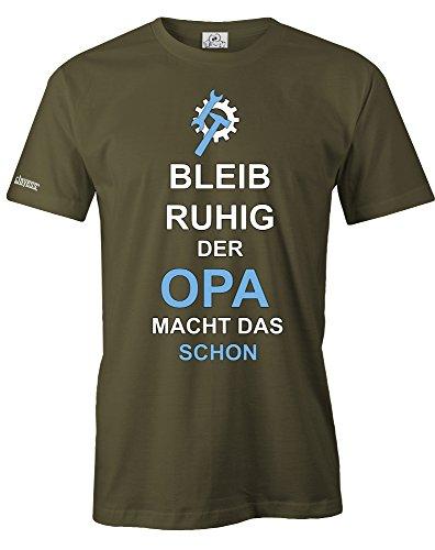 Jayess Bleib Ruhig der Opa Macht Das Schon - Herren - T-Shirt Army