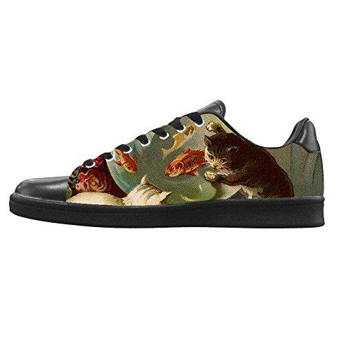 Dalliy kunst katze Men's Canvas shoes Schuhe Lace-up High-top Sneakers Segeltuchschuhe Leinwand-Schuh-Turnschuhe B