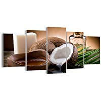 Quadro su vetro - cinque 5 tele - larghezza: 160cm, altezza: 85cm - numero dell'immagine 2632 - pronto da appendere - elementi multipli - Arte digitale - Moderno - Quadro in vetro - GEA160x85-2632