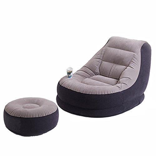 Qel la sedia di salotto gonfiabile di lusso con il poggiapiedi può essere usata a casa