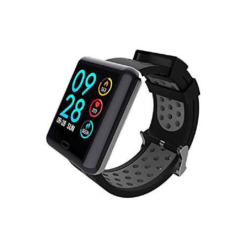 HTTXSBL Sportuhr Fitness Tracker Herzfrequenzerkennung Farbdisplay Bewegung Echtzeitüberwachung IP67 wasserdicht gris