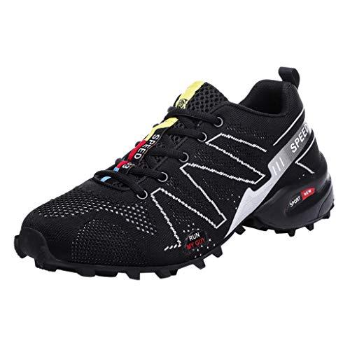 ODRD [EU39-EU49] Schuhe Atmungsaktive Turnschuhe der großen Größe des Ineinandergreifens Ultraleichte Rutschfeste Beiläufige Arbeitsschuhe Hot Stiefel Sneaker Combat Hallenschuhe Sports