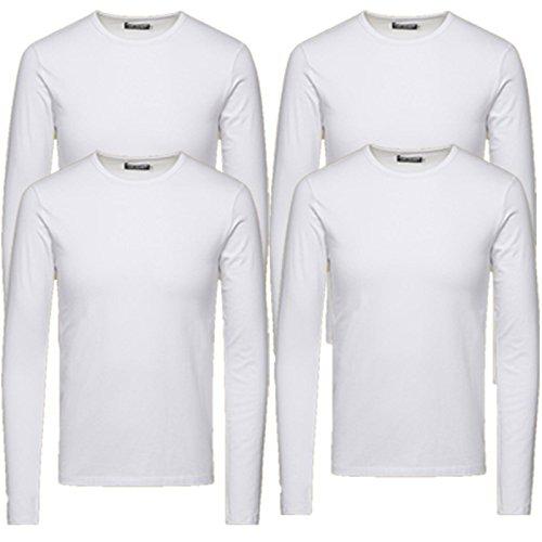 f776cf2d305eed Jack   Jones Herren Langarmshirt 4er Pack Rundhals Basic LS Shirt  Longsleeve Tee Core O-