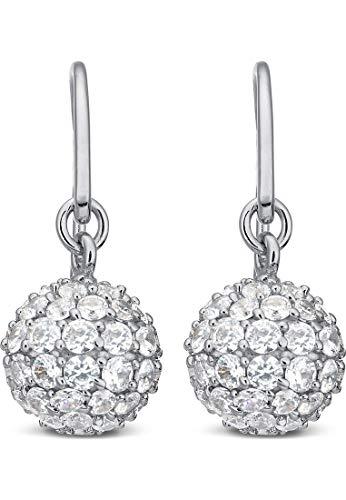 JETTE Silver Damen-Ohrhänger 925er Silber 126 Zirkonia One Size 86992698