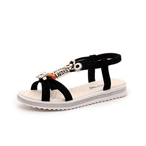 Die koreanische version der flachen sandalen/Anti-rutsch-wilde schülerschuhe B