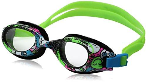 Speedo Jr. HYDROSPEX Print Goggle, Black/White, 1SZ - Speedo Jr Goggles