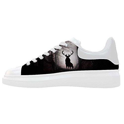 Dalliy kunst hirsch Men's Canvas shoes Schuhe Footwear Sneakers shoes Schuhe E