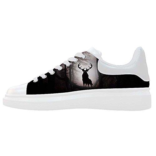 Dalliy kunst hirsch Men's Canvas shoes Schuhe Footwear Sneakers shoes Schuhe (Oakland Schuhe Raiders Baby)