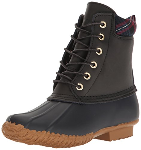Tommy Hilfiger Women s Russel Rain Boot Black 5 B(M) US image