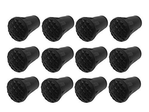 MIGHTY PEAKS 12 Stück / 6 Paar Nordic Walking Pads Asphalt Gummipuffer X-4KT für alle gängigen Nordic Walking Stöcke - Wanderstöcke - für den Nordic Walking Stock mit einen Durchmesser von 10mm