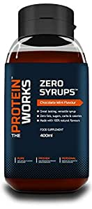 The Protein Works Zero Syrups, Chocolate Mint Brownie - 400 ml