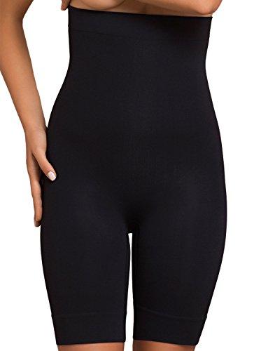 Plie 50069 Control Bermudas Miedershorts Für Damen, Shapewear, Größe XL, Schwarz