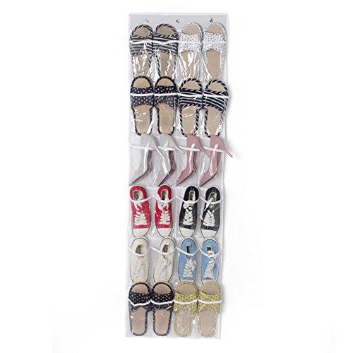 Der Tür, über Kosmetik-schrank (lalilei 24Taschen hängen über der Tür Schuh Aufbewahrungs Taschen, faltbar auf Wand Schuhregal Organizer Kleiderschrank/Toys Aufbewahrungstasche)