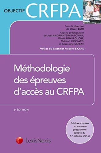 Méthodologie des épreuves d'accès au CRFPA