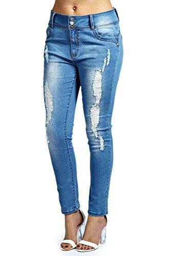 Femmes Denim Plus Mel Jean Skinny Stretch Taille Haute Denim