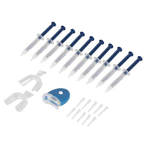 Weiß Professionelle Bleaching-system (Professionelle Tragbare Zahnarztausrüstung 10 Stücke Weiß Zahnweiß-system Whitener Bleaching Kit Oral Gel Kit(Color:clear))