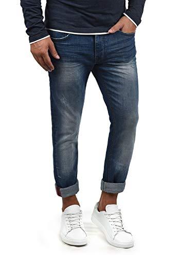 Blend Husao Herren Jeans Hose Denim Aus Stretch-Material Slim Fit, Größe:W32/34, Farbe:Denim middleblue (76201)