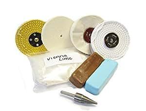 kit de polissage 13 pour polissage aluminium laiton une finition miroir avec perceuse amazon. Black Bedroom Furniture Sets. Home Design Ideas
