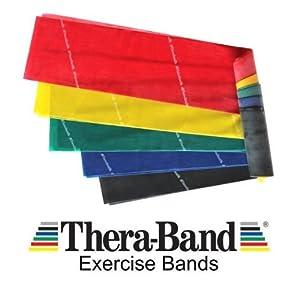 Thera-Band Übungs Resistance Band Latex Free Choice von Spannungen und Farben.