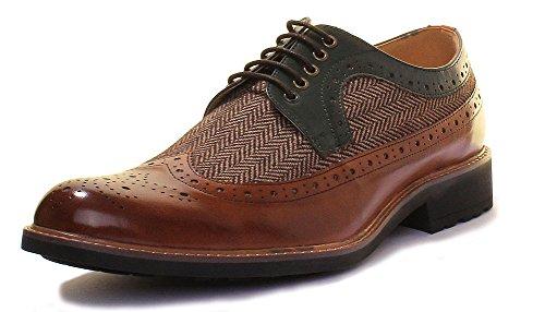 Justin Reece  Manley, Chaussures de ville à lacets pour homme Brown AB