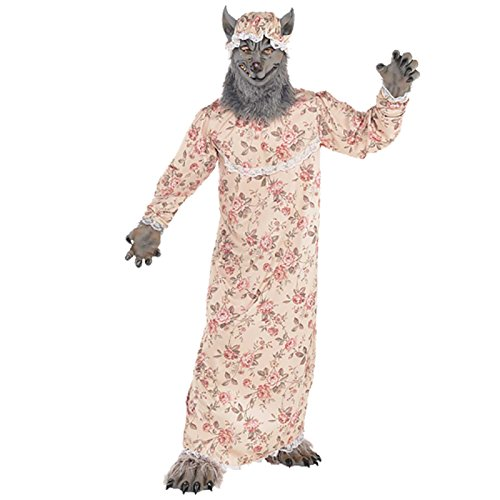 Amscan 9902095 Disfraz de Lobo de Abuela, 10 – 12 años