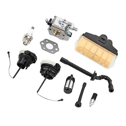 Fenteer Kit di Carburatori Guarnizione Filtro Olio Tubo per STIHL Lega Plastica