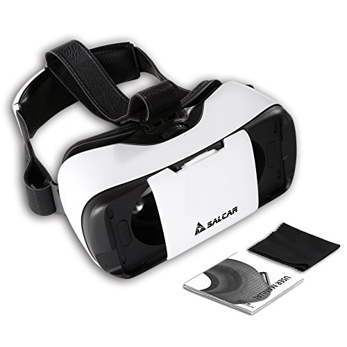 Salcar 3D VR Einstellbar Virtual Reality Brille Video Movie Game Brille virtuelle Realität Glasses für 4.7-5.7 Zoll Smartphone.