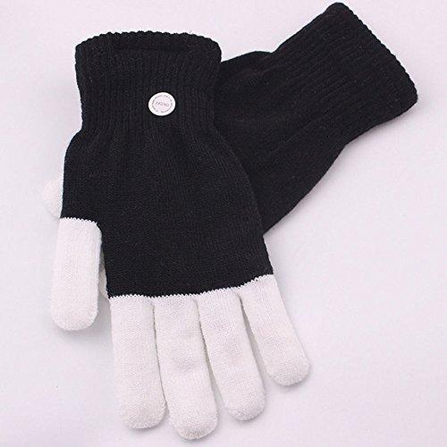 LED Flashing Gloves Glow 7 Mode Light Up Finger Lighting Black 1 pcs Cool Rave