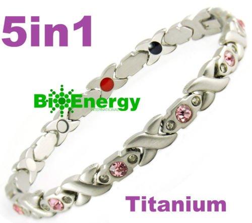 Magnetische Energie Germanium Armband Power-Armband Gesundheit Bio Magnet 5in1281der Dame