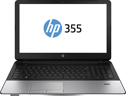 HP 355 G2 (L8B03ES) 39,6 cm (15,6 Zoll) Business Notebook (AMD Quad Core A8-6410 APU, 2,4 GHz, 4 GB RAM, 750 GB HDD, AMD Radeon R5 M240 2GB Grafikkarte, Windows 7 Professional) silber (Amd Quad Laptops Core Hp)