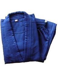 mittelschwerer Judoanzug blau, mit weissem Gürtel