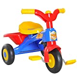 HOMCOM Kinderdreirad Dreirad Kinder Fahrrad Kinderfahrzeug Rad Lufthorn Baby Bunt L60 x B42 x H45 cm