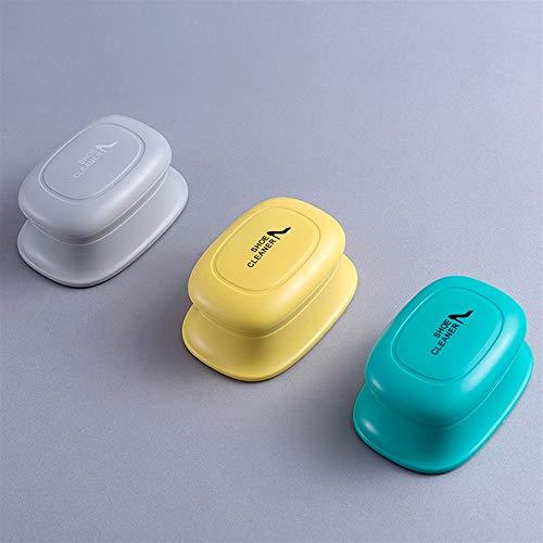 TFFBO Portable Schwamm Weiß Schuhe Canvas Lederschuhe Reinigungsbürste (Color : Color Grey)