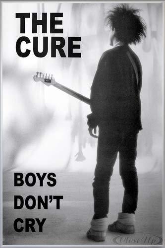 The Cure Poster (93x62 cm) gerahmt in: Rahmen Silber matt
