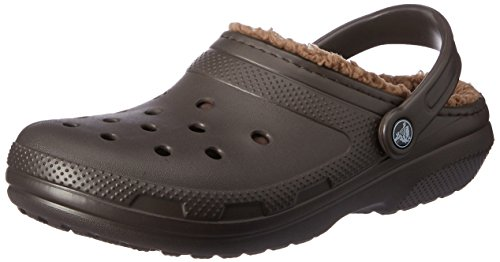 Crocs classic lined clog, zoccoli unisex – adulto, marrone (espresso/walnut), 43-44 eu