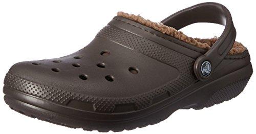 Crocs Classic Lined Clog Infradito e Ciabatte da Spiaggia, Unisex Adulto, Marrone,  43/44