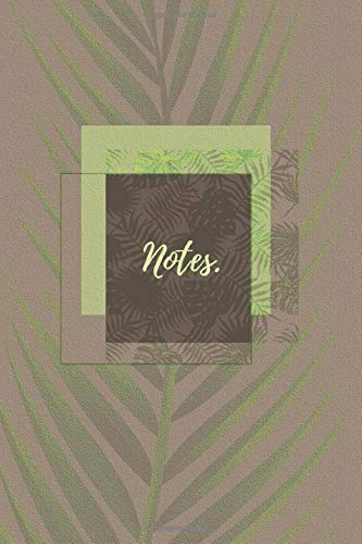Tropical Palm Tree: cool beach summer khaki green brown nature leaves notebook journal to write in 6x9 150 lined pages -
