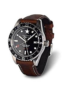 OXYGEN EX-DT-BUF-42-CL-DB - Reloj de pulsera unisex, piel, color marrón de OXYGEN