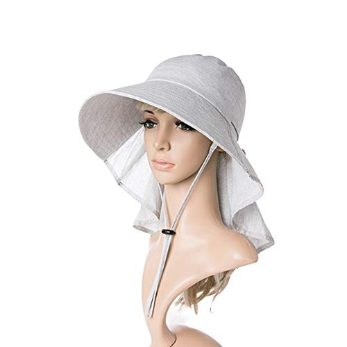 Bestehen Sie immer auf Erfolg Sommer Hut, Sonnenhut Frauen Anti UV Schützen Hals Schachtelhalm Loch Faltbare Tragbare Outdoor Allgleiches, 4 Farben Optional Sommer Sonnenhut (Farbe : D) -