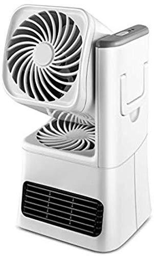Yuqin Heizlüfter Werkstatt,Heizung Keramik Heizung Büro Kleine Klimaanlage Dual-Use-Dumping-Schutz Schnelle Heizung für Winter und Sommer (Weiß) -
