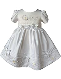 BABY Kleid Taufe Taufkleid Festkleid Rot Gold 4-teilig Spitze Schuhe Gr 56 62