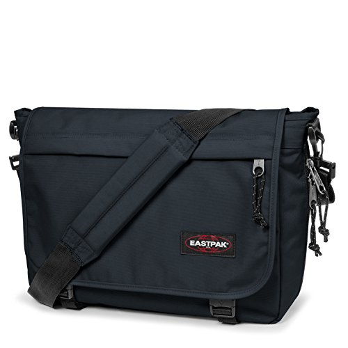 Eastpak Delegate Borsa Messenger, 20 Litri, Multicolore (Combo Black), 38 cm Blu (Space Navy)