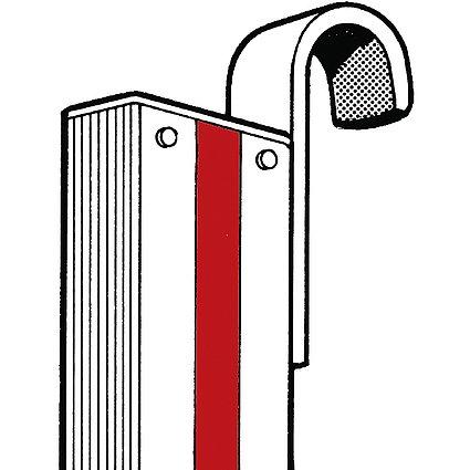 HYMER Einhängehakenset 30 mm für Stufenanlegeleiter 6012, 0054013 (Leiter 30)